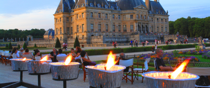 Vaux le Vicomte candlenight evening