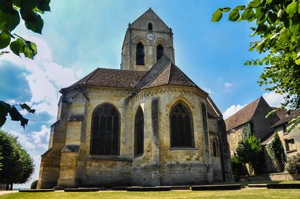 Auvers-sur-Oise, la iglesia que pint Van Gogh, Francia